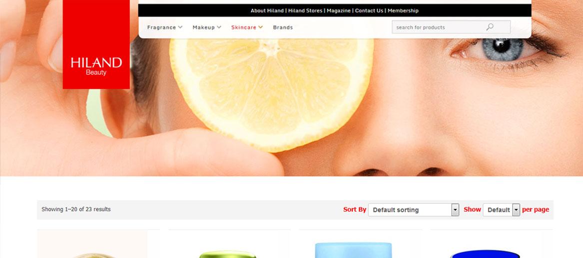 طراحی سایت|HILANDBeauty.com