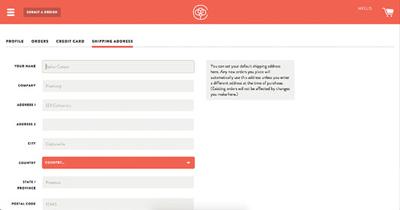 طراحی فرم فرآیند ثبت نام