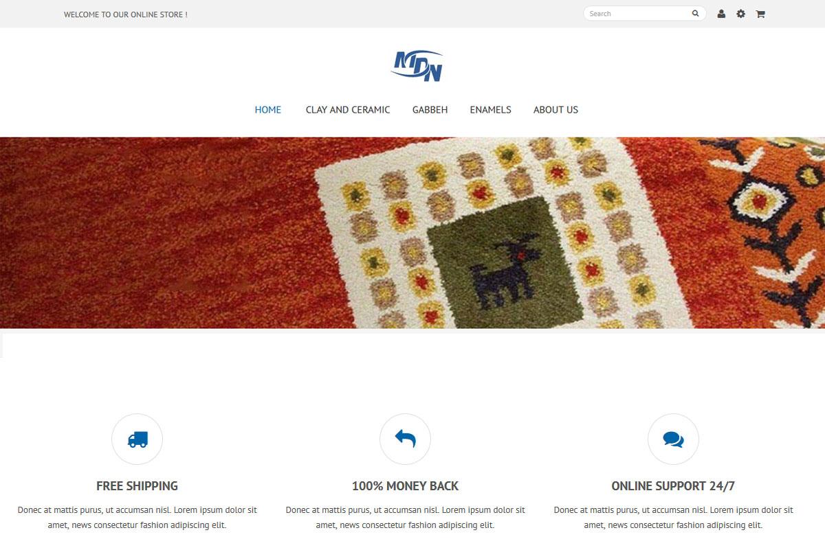 طراحی سایت|mdn shop